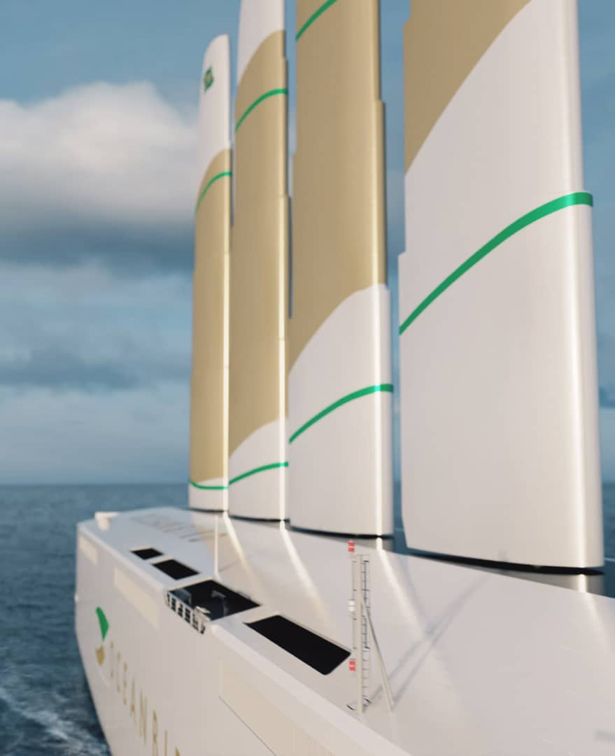 The Oceanbird sails will reach a height of 105 meters above the waterline - Image credit: Oceanbird