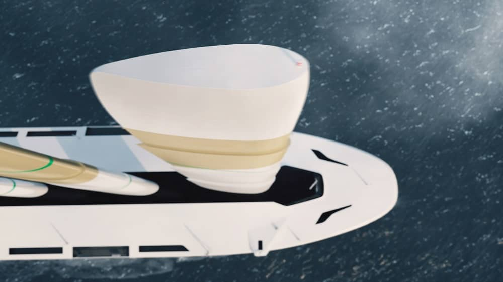 Top view of the Oceanbird sails featuring a symmetric airfoil section - Image credit: Oceanbird